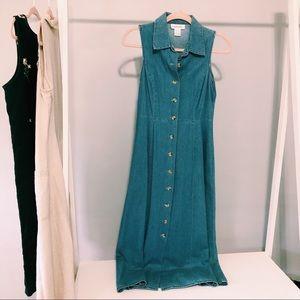 Vintage Chadwick's Denim Button-Down Dress
